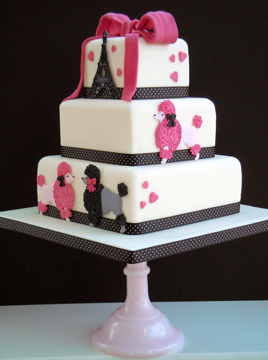 Tiered Poodle Cake