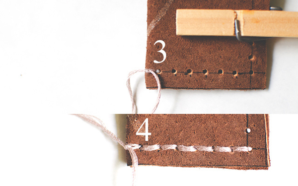 Prepare leather: steps 3-4