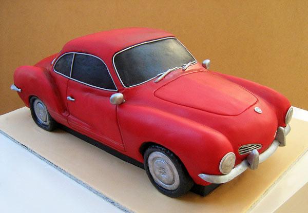 Red VW Car Cake