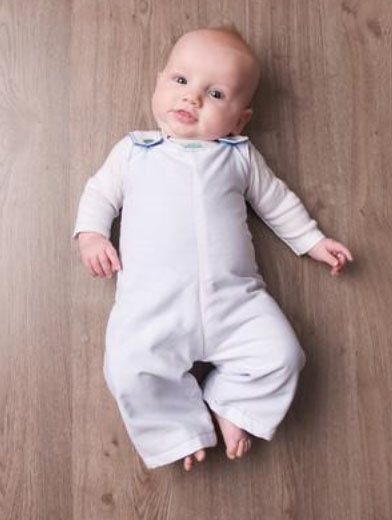 Baby Wearing Cute Romper