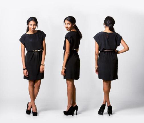 Woman Modeling the Little Black Dress