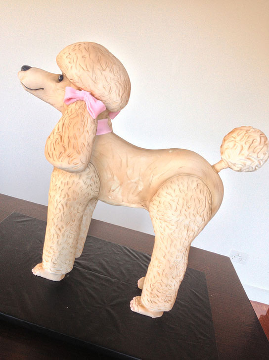 Sculpted Poodle Cake