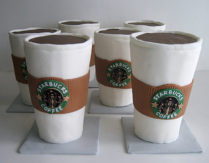 Cakes Shaped Like Starbucks Coffee Cups