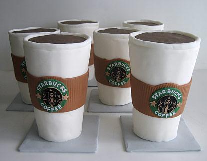 Cakes Shaped Like Starbucks Coffee Cup
