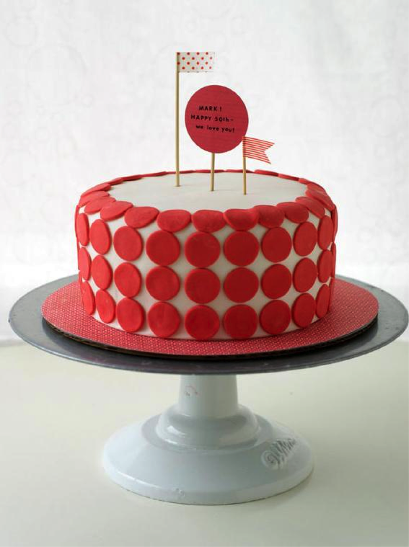Red Dot Cake