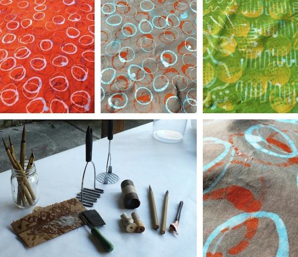 Collage of Colored Fabrics