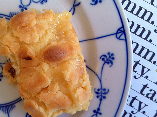 Piece of Philadelphia Style Butter Cake on Plate