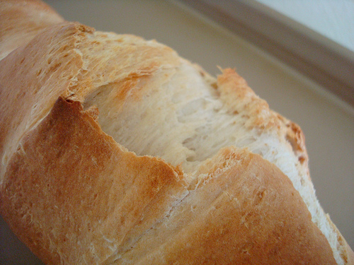 Closeup on French Bread Loaf