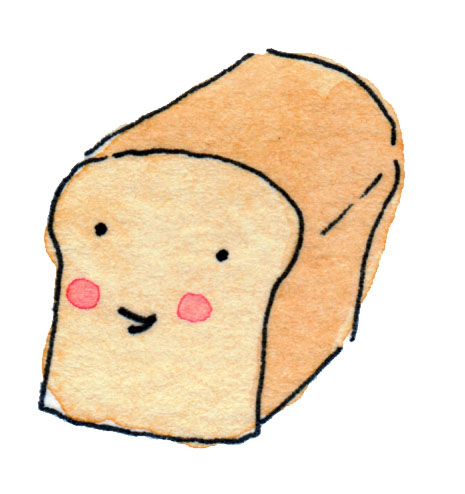 Cartoon of Smiling Loaf of Bread
