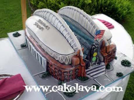 Cake Shaped Like Stadium