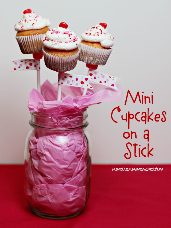 Mini Cupcakes on a Stick in a Mason Jar