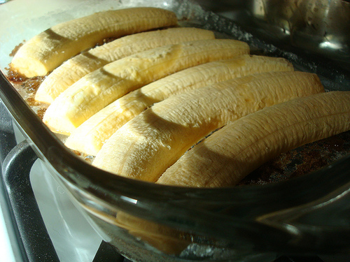 Plantains in Baking Dish