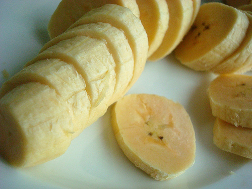 Sliced, Uncooked Plantains