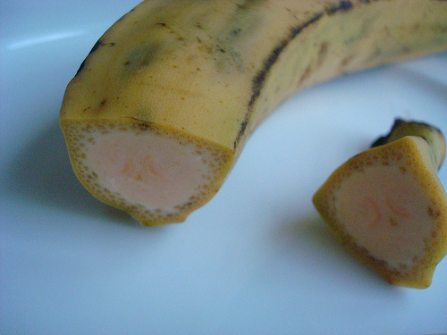 Sliced Plantain with View of Inside
