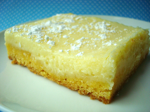 Butter Cake Topped with Powdered Sugar