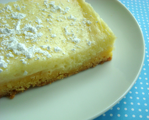 Piece of St. Louis Butter Cake on Plate
