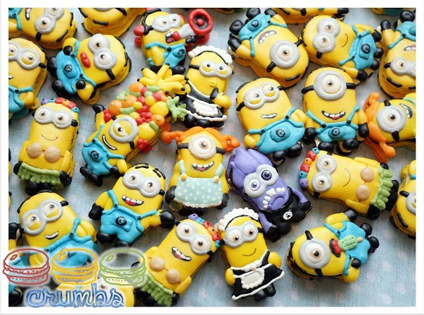 Multitude of French Minions Macarons