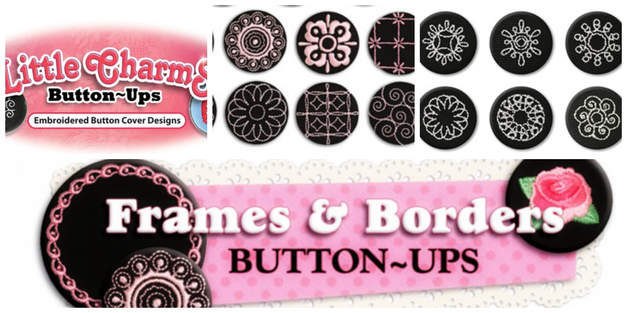 "Colorful Graphic Reading ""Frames & Borders Button-Ups"""