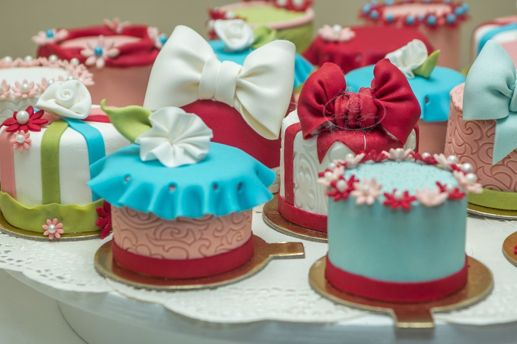 Mini Cakes with Various Decorative Toppings