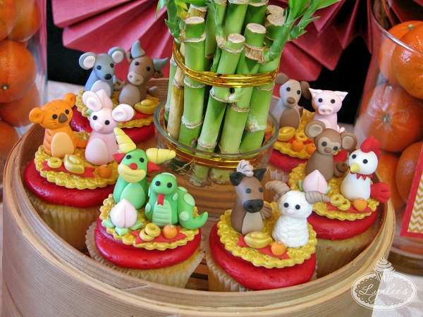 Lunar New Year Fondant Animal Toppers