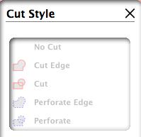 "Computer Menu Option ""Cut Style"""