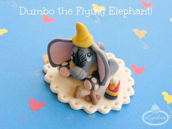 Dumbo-Shaped Fondant Elephant