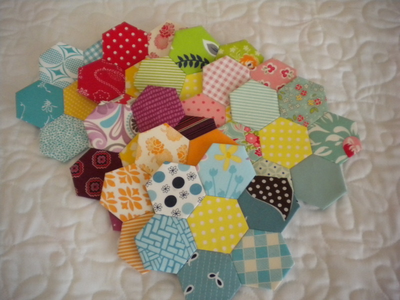Pieces of Quilt Blocks Pieced Together
