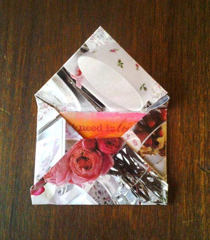 Patterned Envelope with Letter Inside