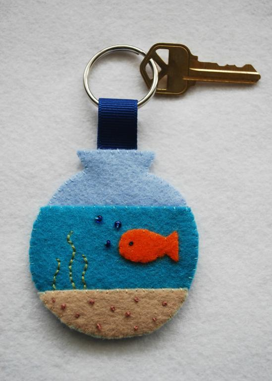 Key on Fishbowl Keychain