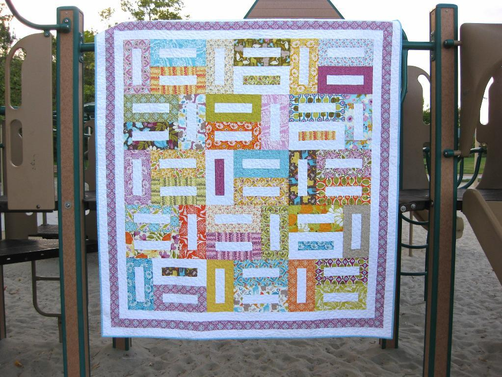 Colorful Rectangular Design Quilt