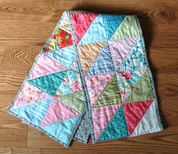 Multicolored Quilted Scarf