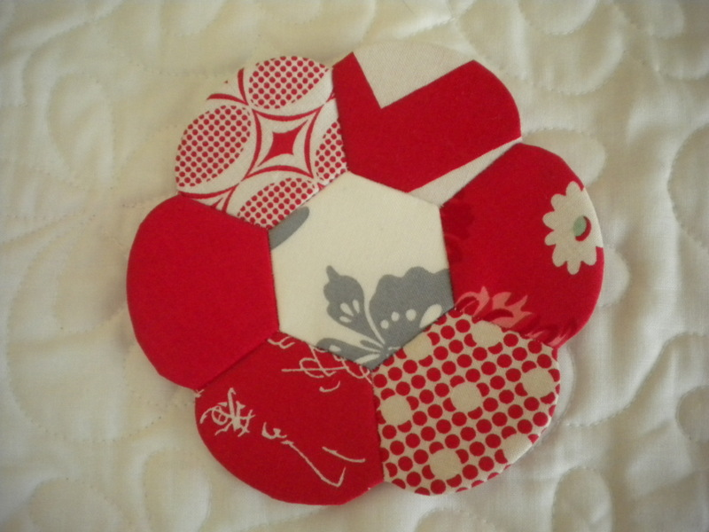 Floral-Shaped Pieced Quilt