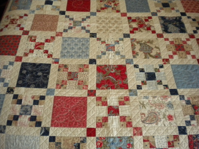 Quilt with Vertical Sashing