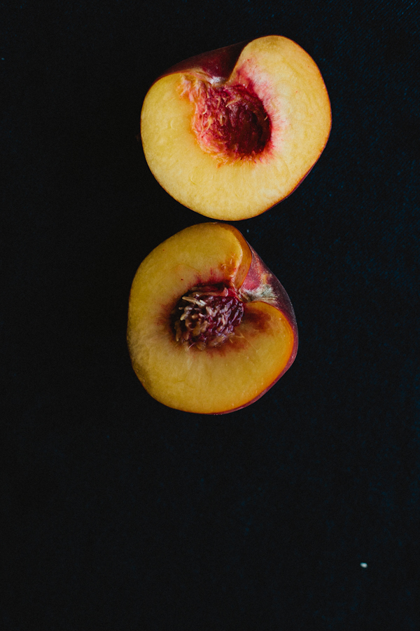 Artistic Inside View of Sliced Peach