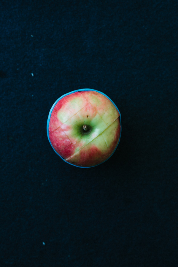 Whole Apple with Slice Marks