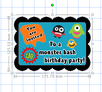 Birthday Invitation Overlaying Graph on Computer
