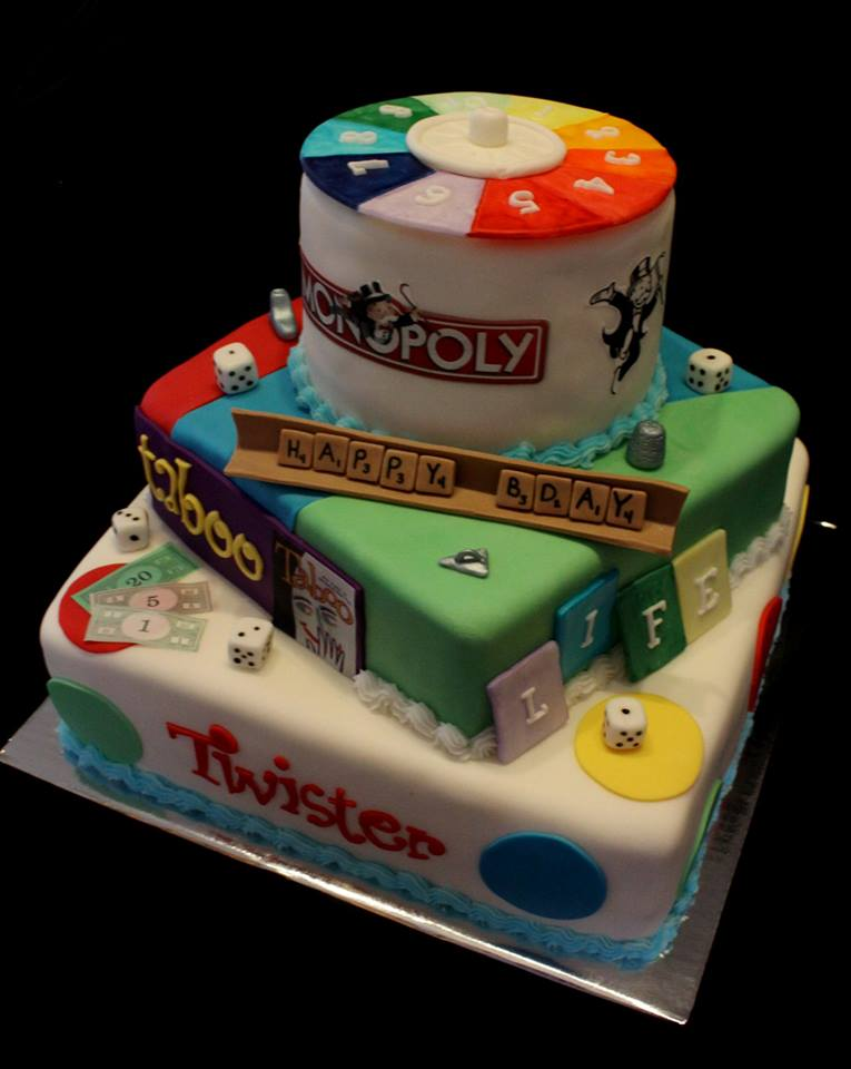Cake Themed with Various Board Games