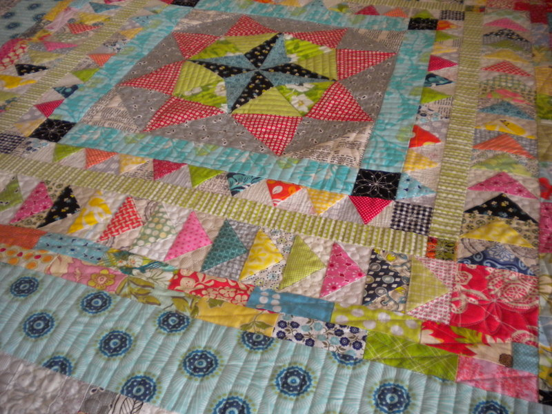 Multi-Colored and Patterned Quilt