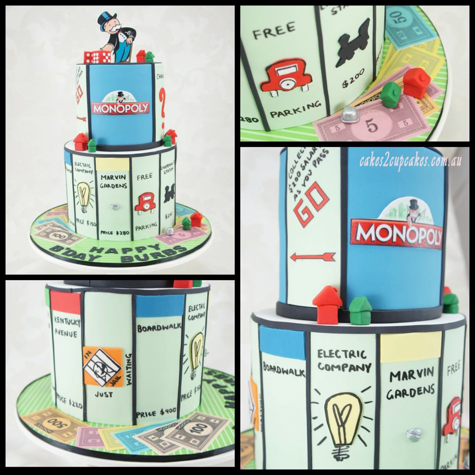 Monopoly-Themed Tiered Cake