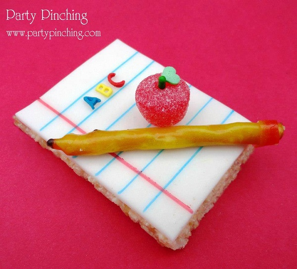 Fondant School-Themed Cookie Topper with Pretzel Pencil