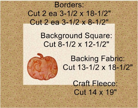 Pumpkin Placemat with Text Instructions for Making