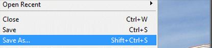 Computer Screen Shot - Save As Tab
