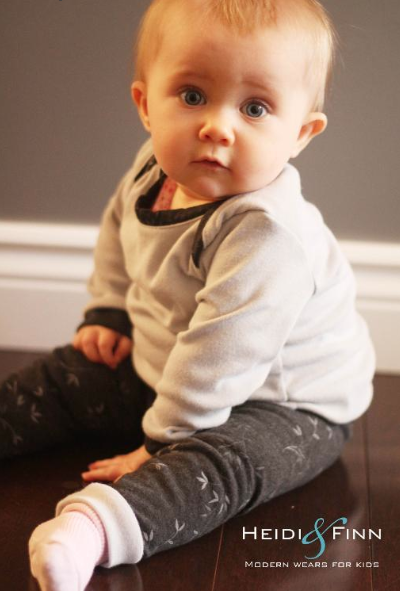 Sweet Little Baby Sitting and Modeling Baby Clothes