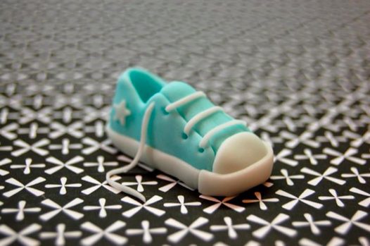 Fondant Sneaker with All Laces and Tiny Star Emblem