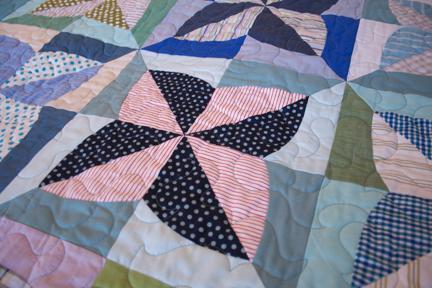 Striped Pinwheel Quilt Pattern