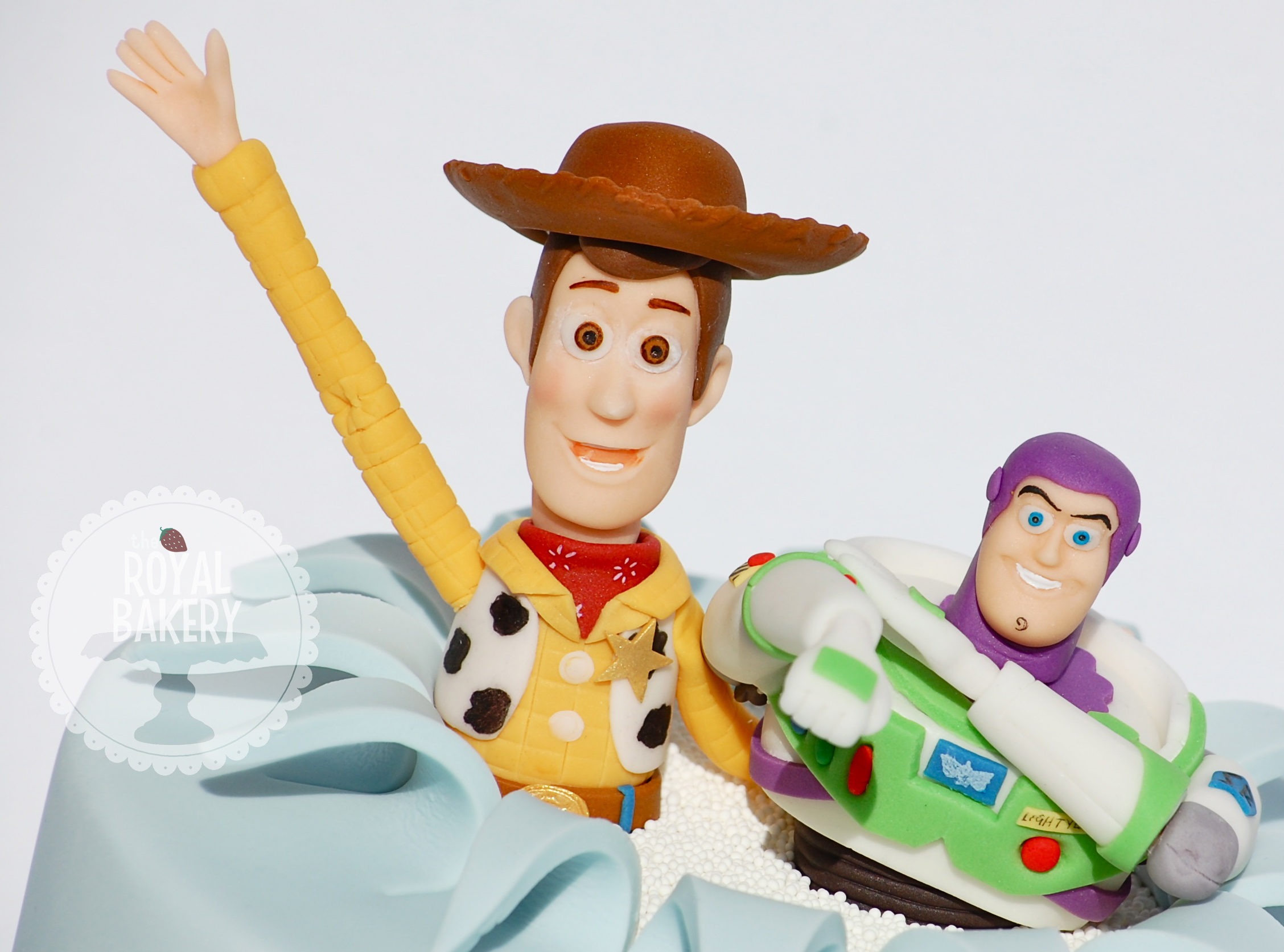 Colorful Toy Story Character Molded from Fondant