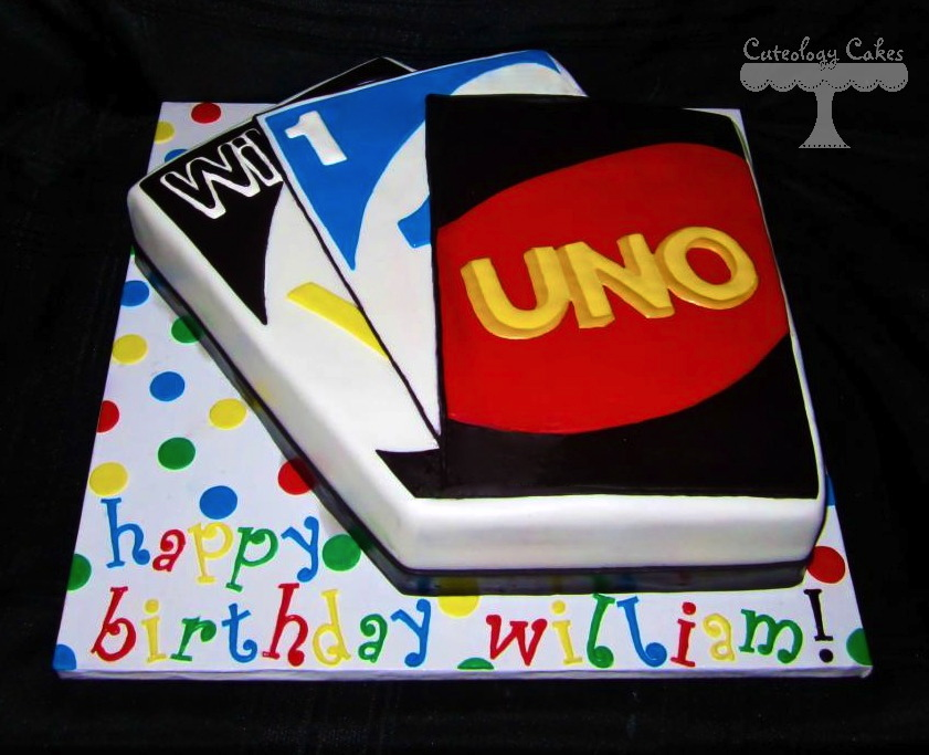 Cake In Shape of Uno Cards