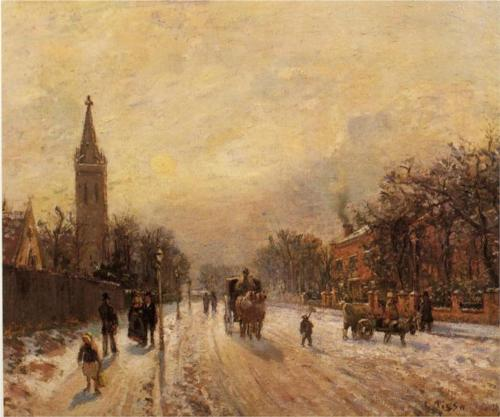 "Camille Pissarro ""All Saints Church Upper Norwood"" 1871"