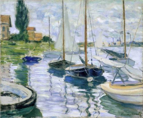 "Monet ""Boats at Rest at Petit Gennevilliers"" 1872"