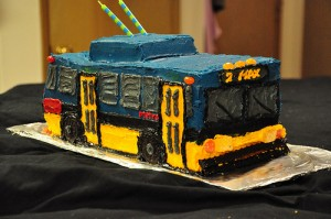 Cake Shaped as Cable Car